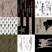 Marines Faux Quilt Rotated