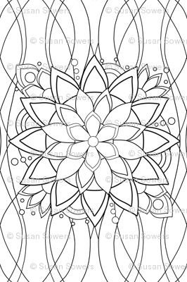 BIg Flashy Flower coloring page - Lake
