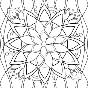 BIg Flashy Flower coloring page - Lake