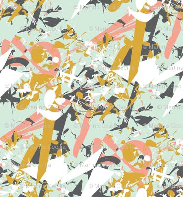 Mint Shards - modern geometric fragments