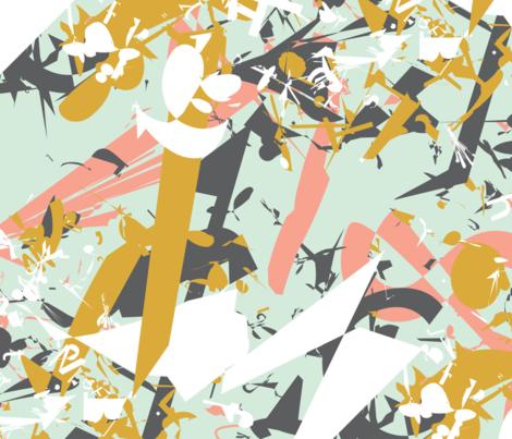 Mint Shards - modern geometric fragments fabric by aliceelettrica on Spoonflower - custom fabric