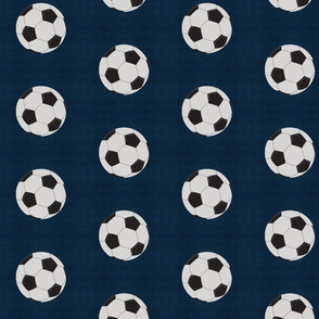 soccer vintage navy - Large 467