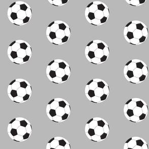soccer white ball - gray Large 467