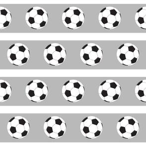 soccer white ball gray white stripe- Large 45