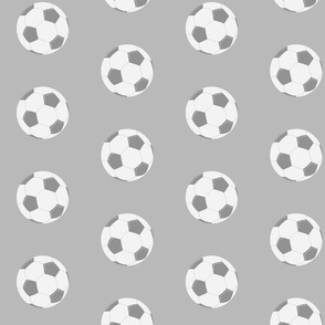 soccer gray- Large 467 gray ball