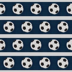 soccer vintage navy gray stripe  - Large 45