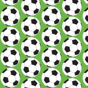 soccer balls white - green 42