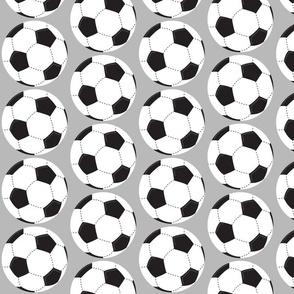 soccer balls white - gray 42