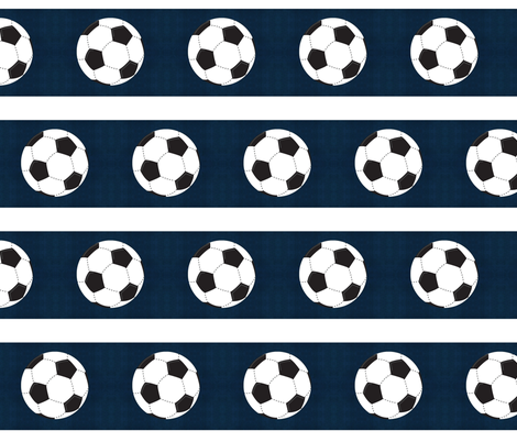 soccer vintage navy white stripe  - Large 45 fabric by drapestudio on Spoonflower - custom fabric