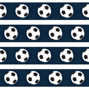 soccer vintage navy white stripe  - Large 45