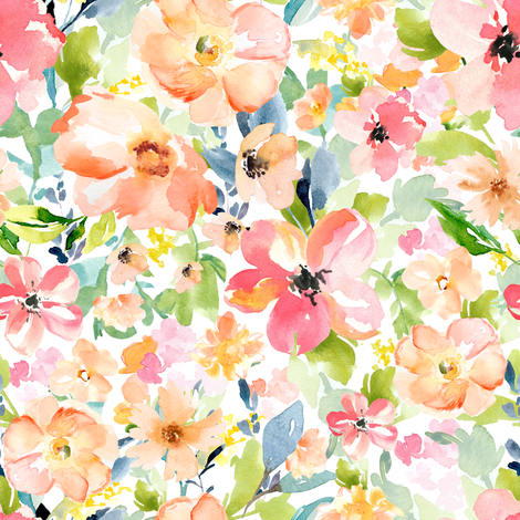 "8""  Floral Love Print fabric by shopcabin on Spoonflower - custom fabric"