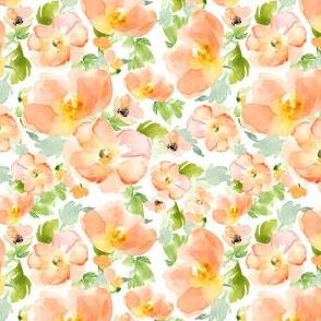"""4""""  Floral Love Peach Print"""