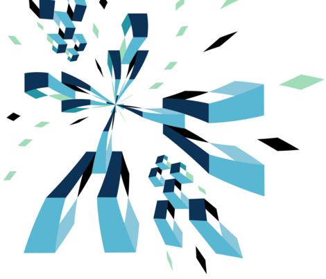 Pixelated Fragmentation fabric by twix on Spoonflower - custom fabric