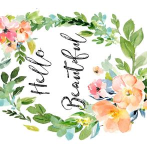 "42""x36"" Hello Beautiful / Floral Print"