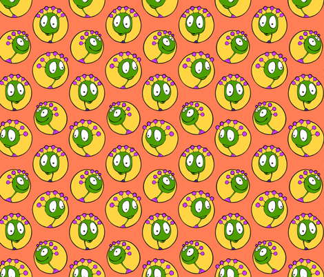 expressive faces fabric by hannafate on Spoonflower - custom fabric