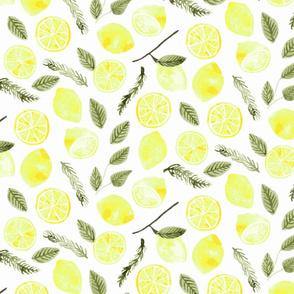 Lemons & Rosemary - White