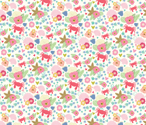 crabs-01 fabric by julie_nutting on Spoonflower - custom fabric