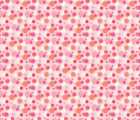 Pink Bubbles fabric by julie_nutting on Spoonflower - custom fabric