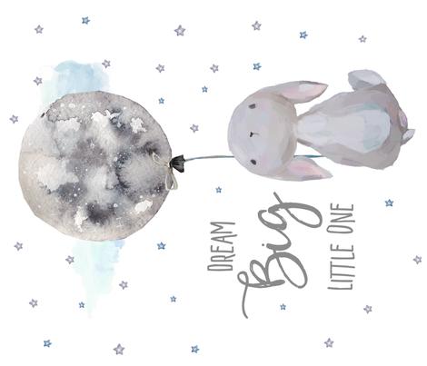 "42""x36"" Dream Big Little Bunny fabric by shopcabin on Spoonflower - custom fabric"