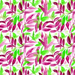 Nature watercolor pattern