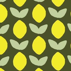 Stamped Lemon - Olive