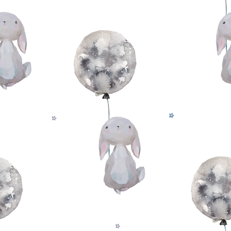 """8"""" Dream Big Little One Bunny / Mix and Match 2 fabric by shopcabin on Spoonflower - custom fabric"""