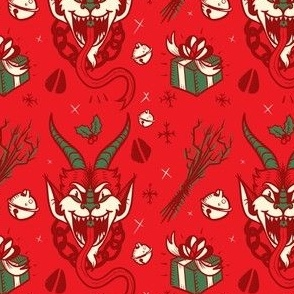 Krampus in Christmas Colors