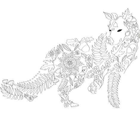 Coloring Fox fabric by nagorerodriguez on Spoonflower - custom fabric