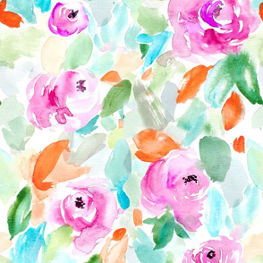 Pretty Purple Watercolor Floral