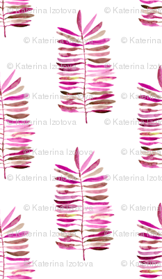 Watercolor pink branches