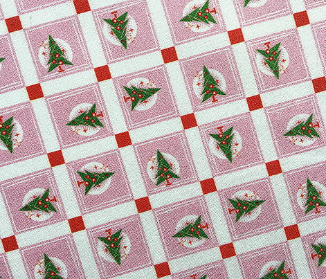 Neighborhood Noel* (Pink Cow) || Christmas tree holiday trees squares city map stars grid geometric