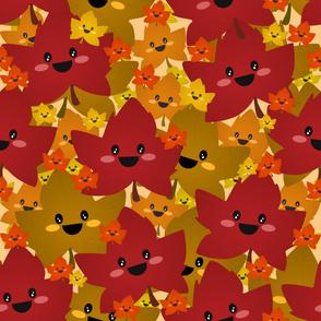 Happy leafy Autumn mess