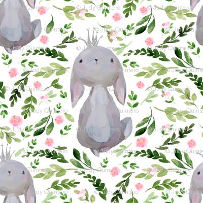 """8"""" Floral Princess Bunny"""