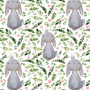 """4"""" Floral Princess Bunny"""