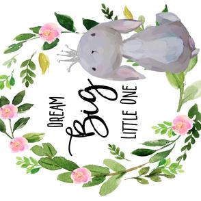 "54""x36"" Dream Big Little One / Princess Bunny"