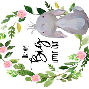 "56""x36"" Dream Big Little One / Princess Bunny"