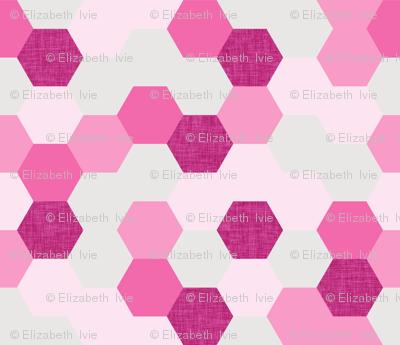 pink maui hexagons // pink