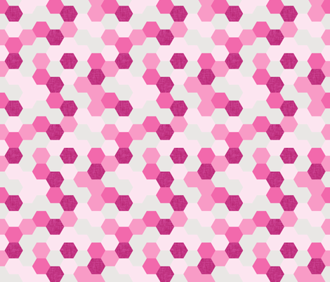 pink maui hexagons // pink fabric by ivieclothco on Spoonflower - custom fabric