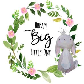 "54""x72"" Dream Big Little One / Princess Bunny"