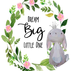 "42""x72"" Dream Big Little One / Princess Bunny"
