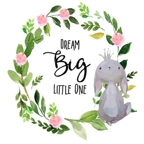 "56""x72"" Dream Big Little One / Princess Bunny"