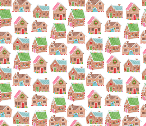Gingerbread Street fabric by shelbyallison on Spoonflower - custom fabric