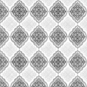 Intricate Quatrefoil (Greyscale)