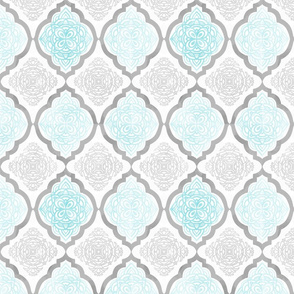 Intricate Quatrefoil (Blue Colorway)