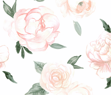 vintage blooms fabric by crystal_walen on Spoonflower - custom fabric