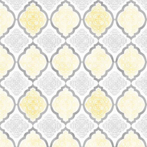 Intricate Quatrefoil (Yellow Colorway)