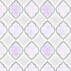 Intricate Quatrefoil (Purple Colorway)