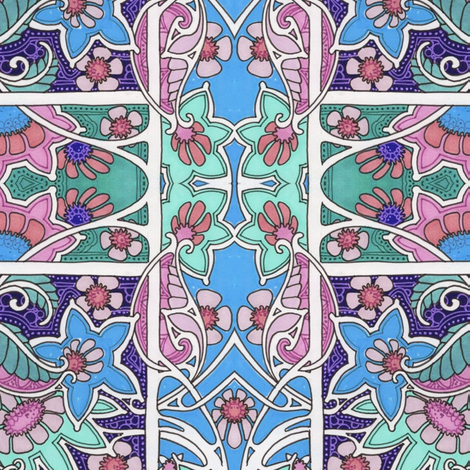 Nouveau Garden A Go Go fabric by edsel2084 on Spoonflower - custom fabric