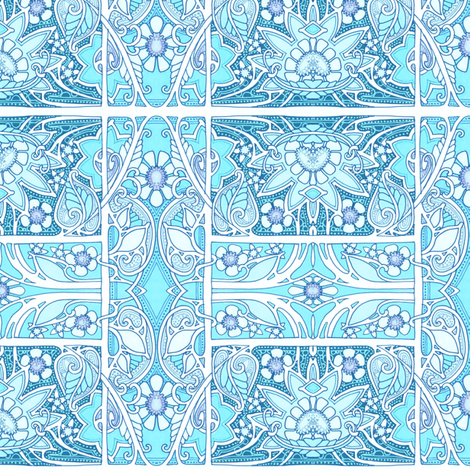 Another Annoyingly Perfect Hour in Paradise fabric by edsel2084 on Spoonflower - custom fabric