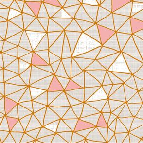 Blushing geo grid
